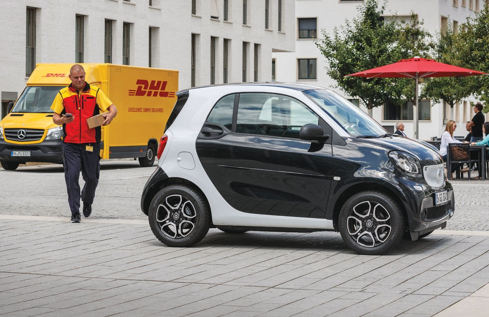 dhl now delivers parcels to smart car trunks