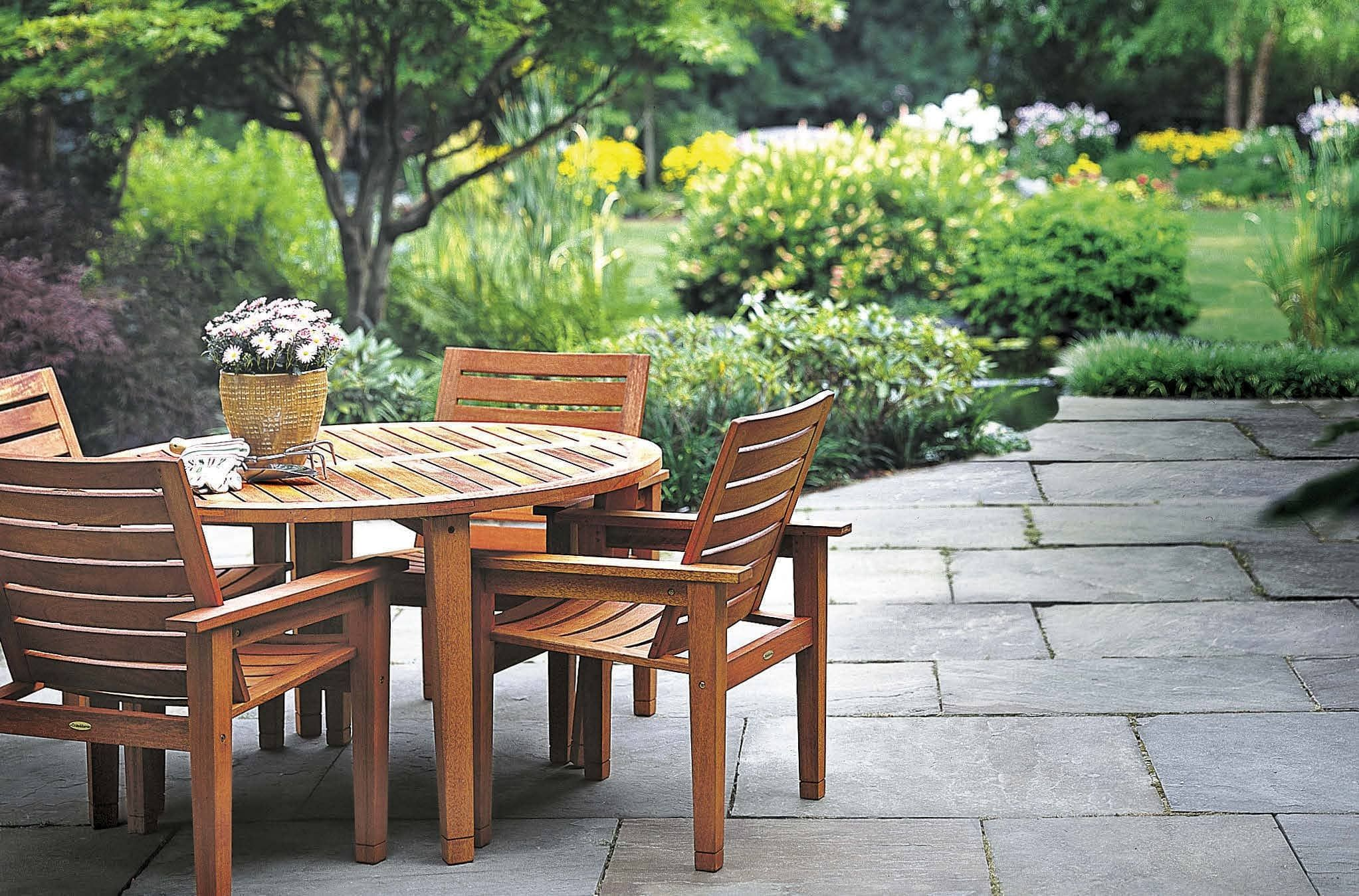 TLC for wood patio furniture