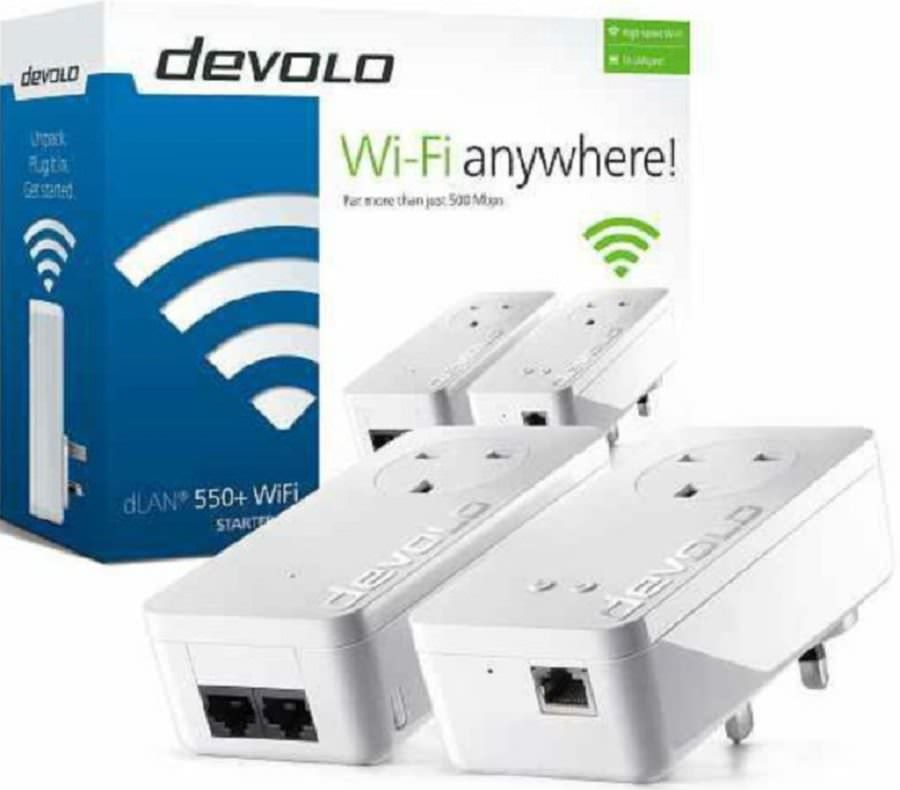 devolo dlan 550 wifi starter kit. Black Bedroom Furniture Sets. Home Design Ideas
